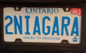 2Niagara license plate